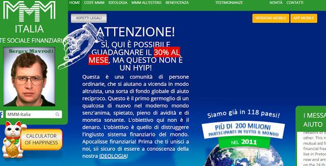 MMM Italy (Global) che cosa è truffa o modo per fare soldi?