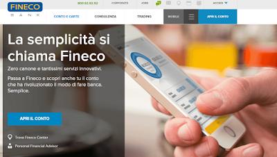 Conto Corrente Fineco Costi, Servizi, Opinioni su FinecoBank, una delle migliori banche italiane