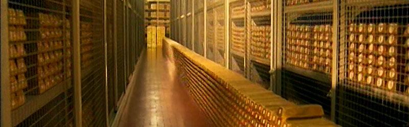 lingotti d'oro alla banca d'italia