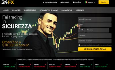 24FX opinioni sul Broker di Trading online
