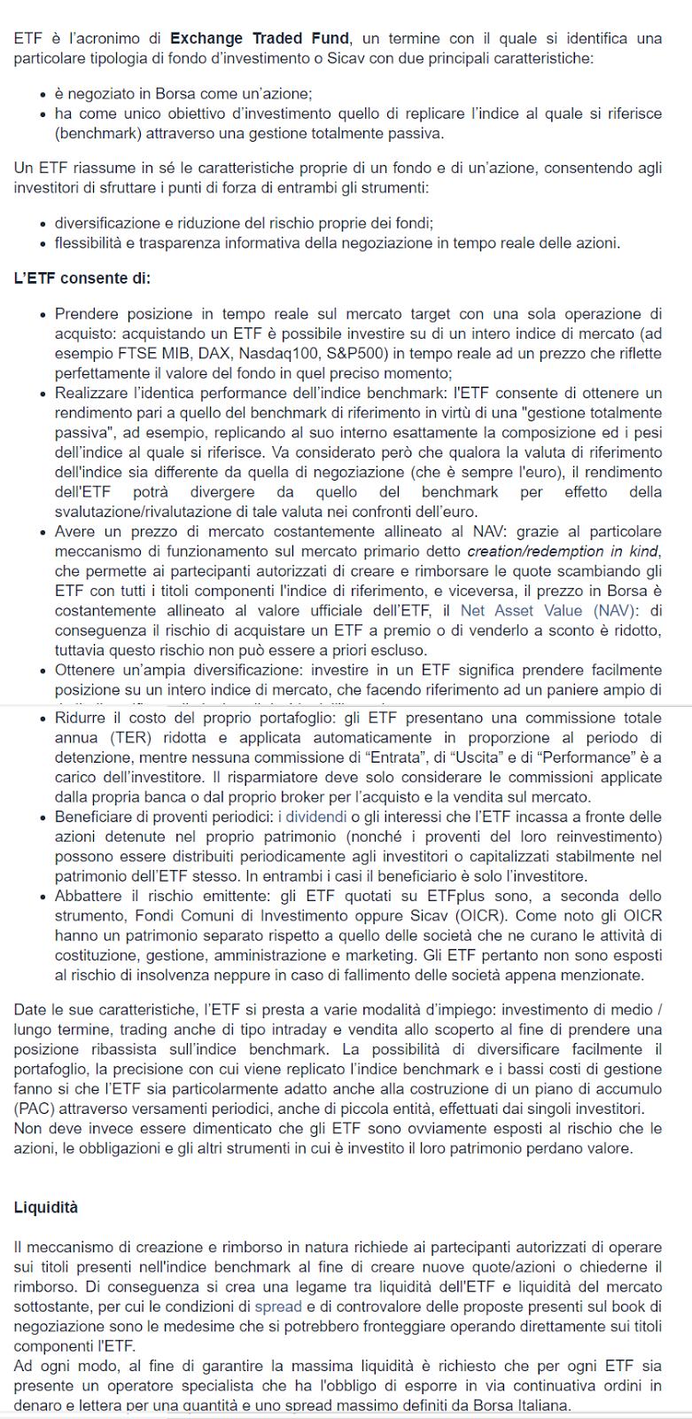 Cosa sono gli ETF, conviene investire in ETF?
