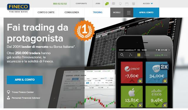 Trading con FINECO: come iniziare, costi; recensione e opinioni