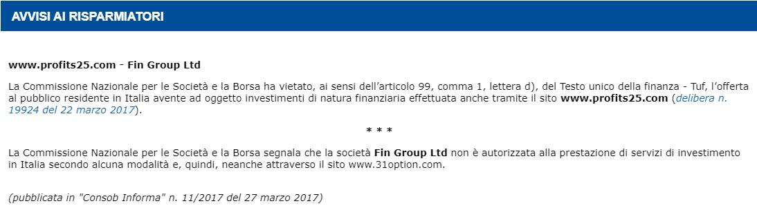 truffa profits 25