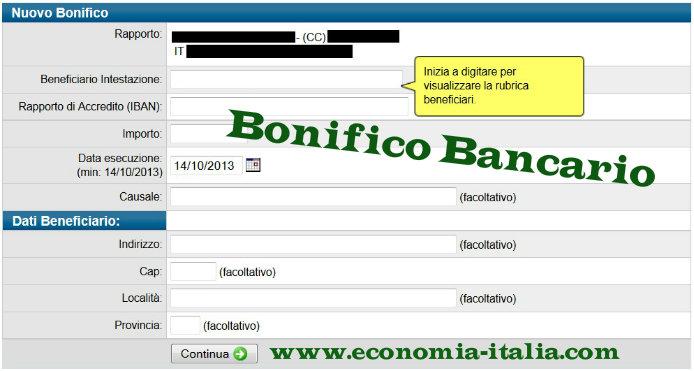 Bonifico bancario e bonifico postale differenze e quale for Causale bonifico ristrutturazione 2017