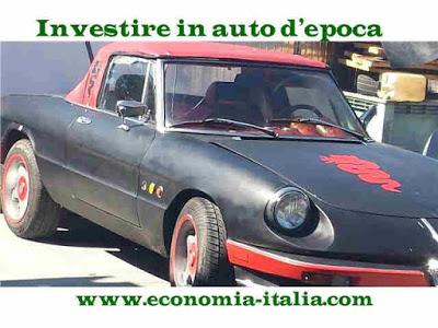investimenti in auto d'epoca