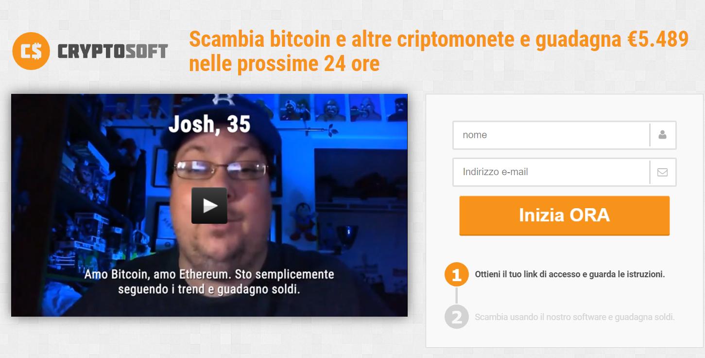 Cryptosoft: la truffa su bitcoin e criptovalute