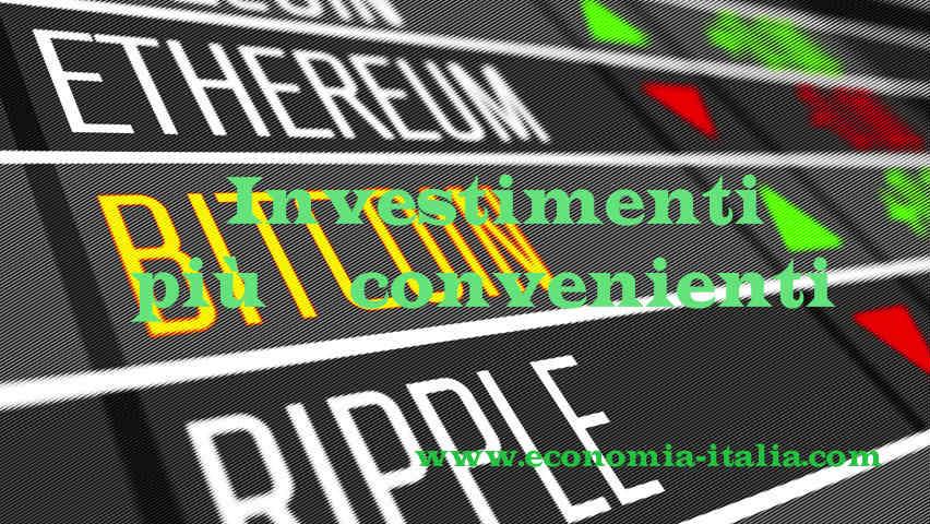 Investimenti più convenienti: Azioni o Criptovalute?