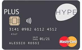 Carta di credito senza busta paga Hype