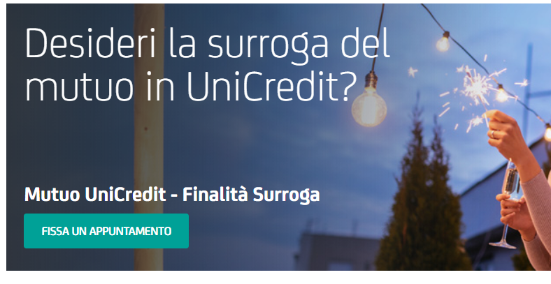 Surroga Mutuo Unicredit