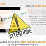 Bitcoin Banc Che Cosa E' Metodo Per Guadagnare o Truffa - Scam Online?