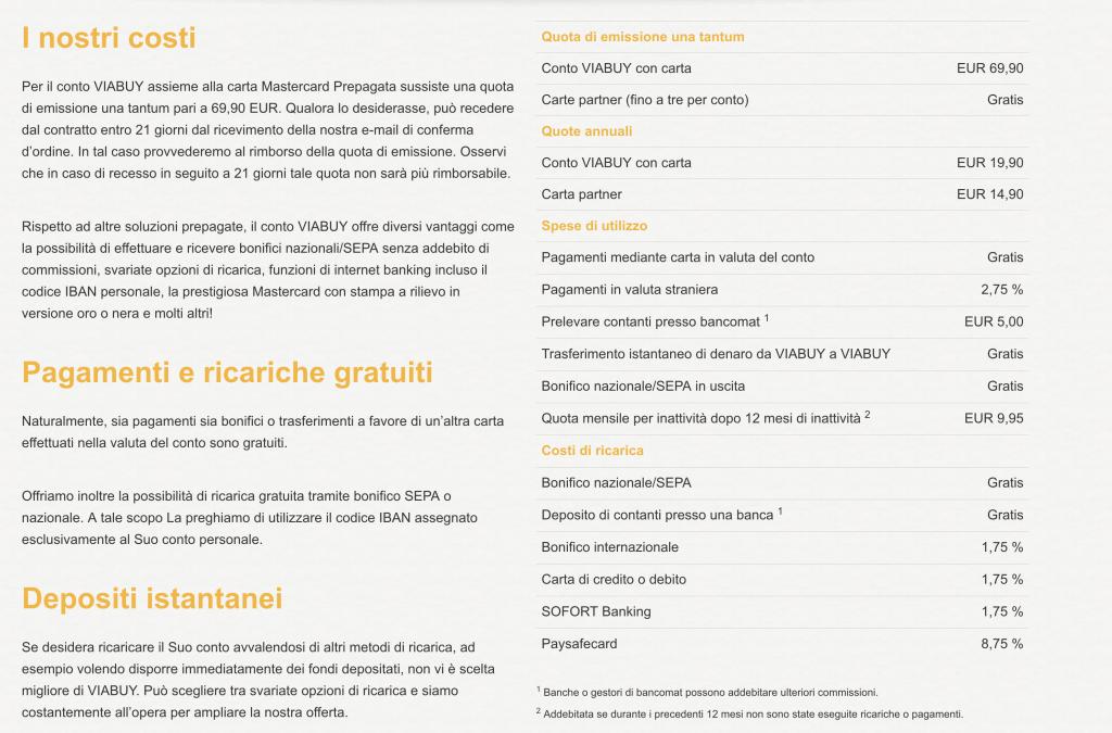 Carta Prepagata VIABUY: Senza Reddito e Stipendio Pagamenti Gratis