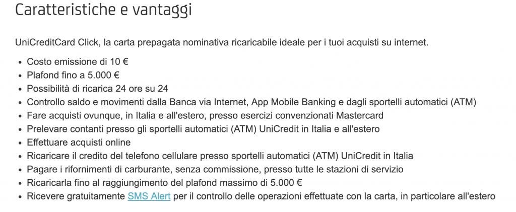 UnicreditCard Click conviene?