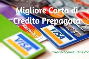 migliore carta di credito prepagata ricaricabile