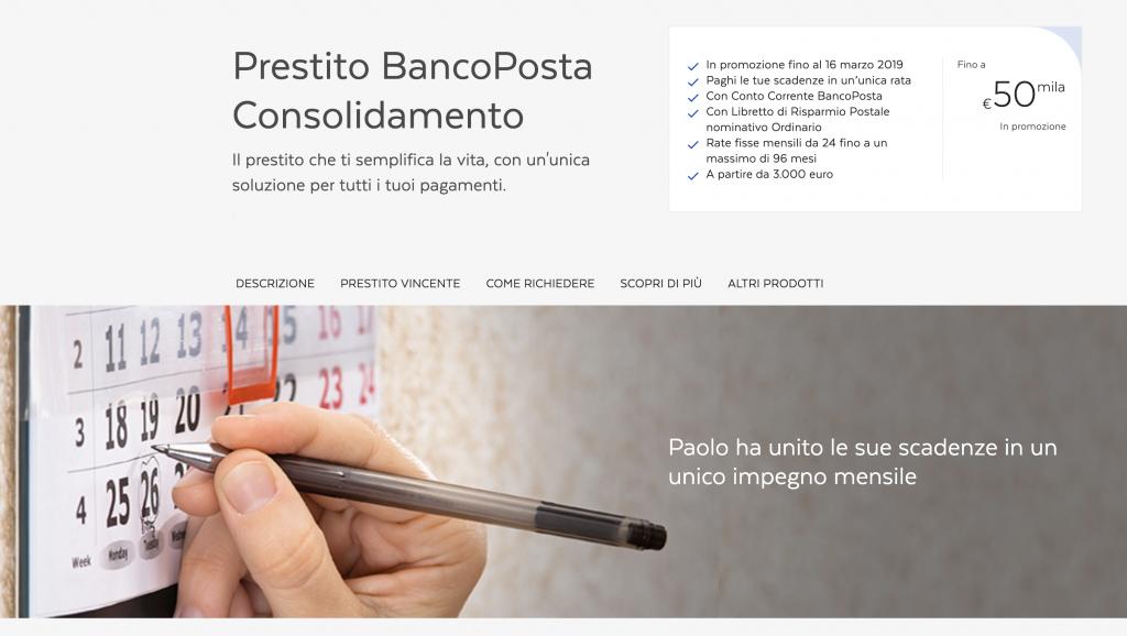 Prestito BancoPosta Consolidamento Debiti 2019, Conviene?