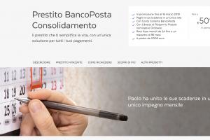Prestito BancoPosta Consolidamento Debiti