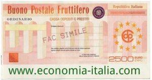 investire 100 euro in buoni fruttiferi postali