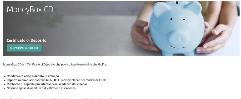 Conto Deposito MoneyBox CD di Unicredit, cos'è e come funziona?