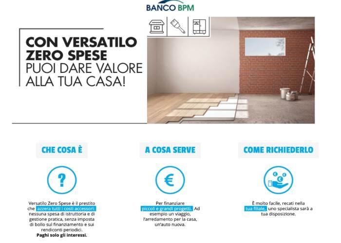 Prestito Versatilo di Banco BPM, il Finanziamento di Banco ...