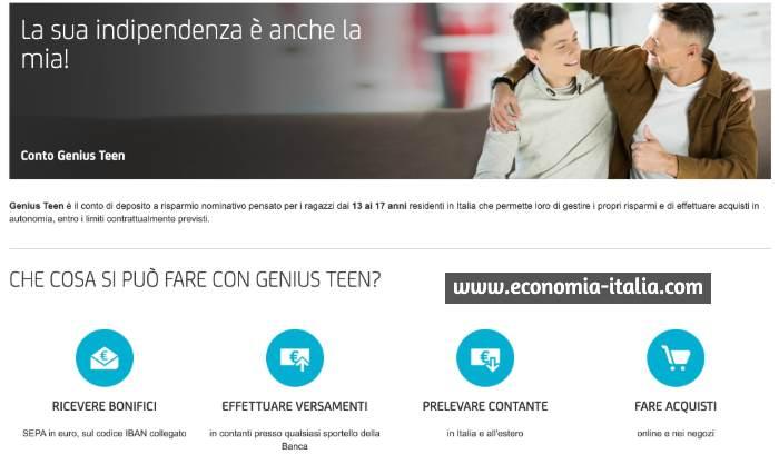 Conto Deposito Unicredit Genius Teen per Minorenni - Opinione e Recensione