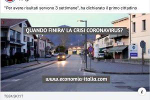 Quando Finirà la Crisi del Coronavirus a livello Economico e Finanziario ?