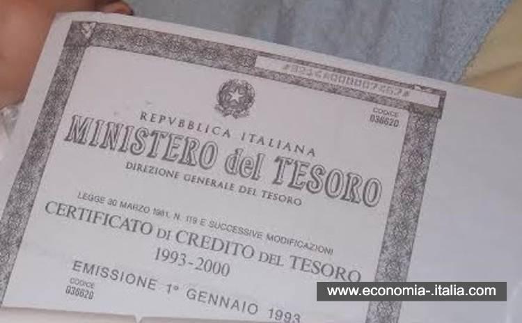 CCT – Certificati di Credito del Tesoro Indicizzati dall'Euribor
