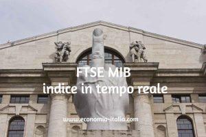 FTSE MIB Quotazione Grafico Borsa di Milano