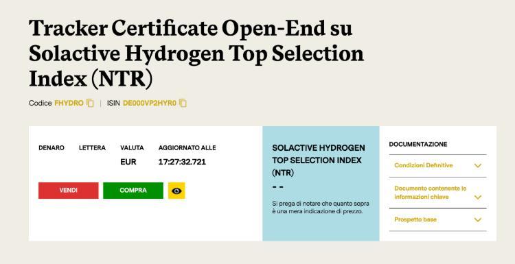 investire in idrogeno certificati