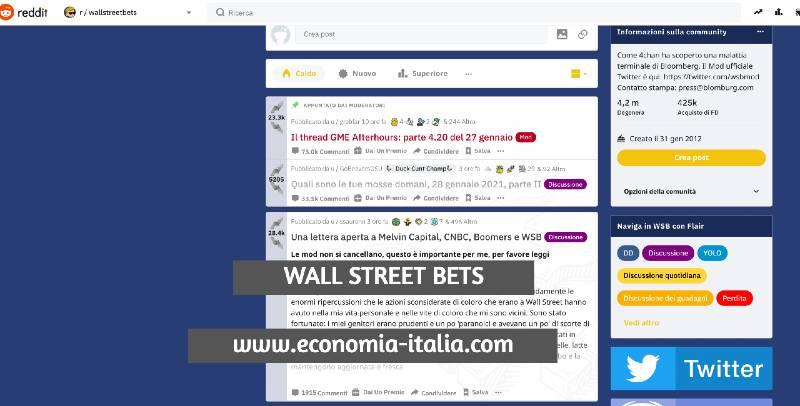 Cos'è WallStreetBets e perchè sta facendo impazzire Wall Street