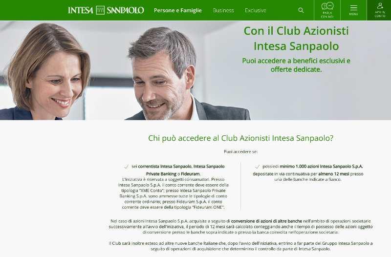Club Azionisti Intesa Sanpaolo Conviene Entrarci? Agevolazioni e Opinioni